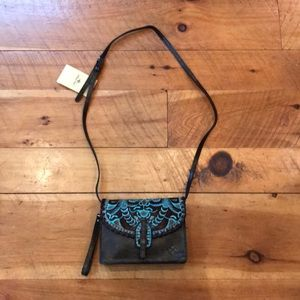 NWT Patricia Nash turquoise cross body bag